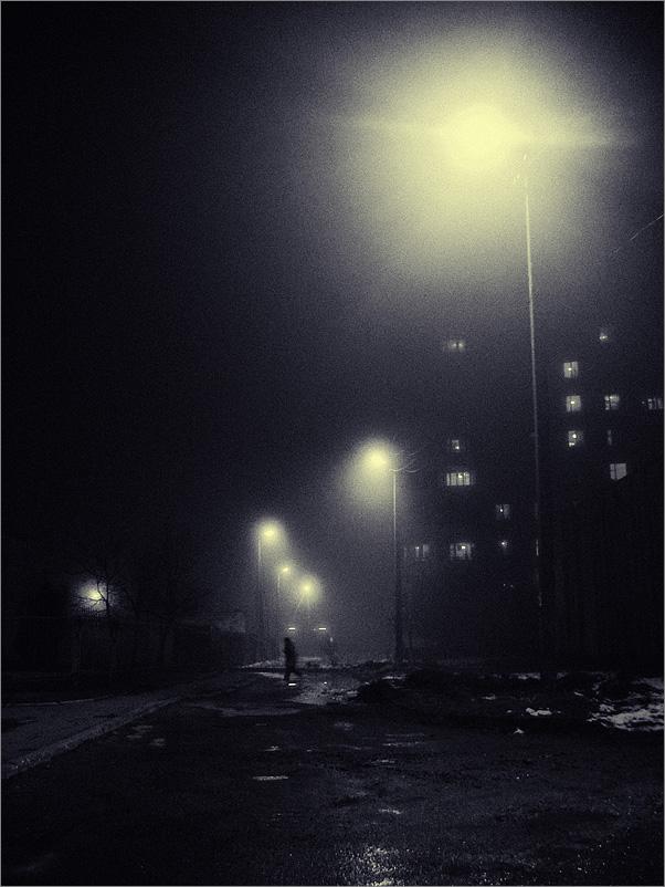 зимние ночные фото автомобилей #11