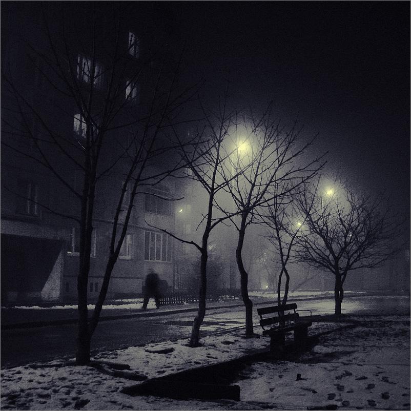 зимние ночные фото автомобилей #10