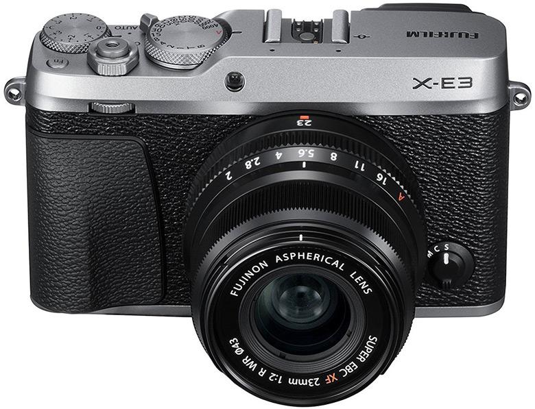 Беззеркальная камера Fujifilm X-E3 стилизована под дальномерный фотоаппарат