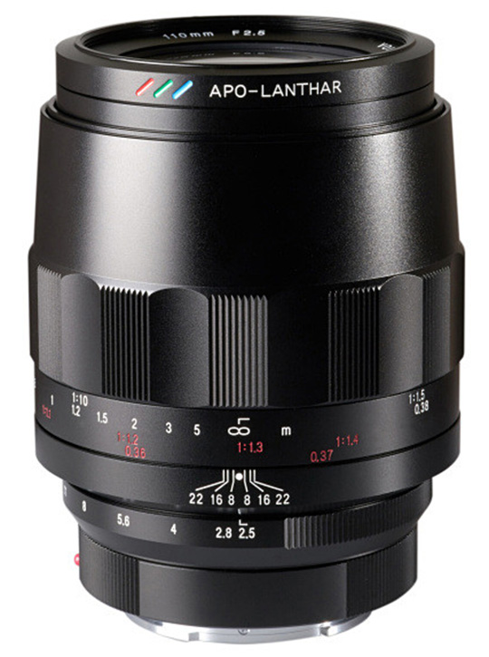 Представлен объектив Voigtlander Macro APO Lanthar 110mm f/2.5 с креплением Sony E