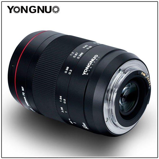 Объектив Yongnuo YN60mm F2 MF предназначен для макросъемки